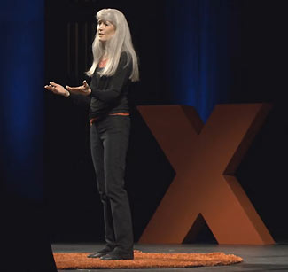Kathleen speaking at TEDxRainier